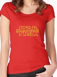 Star Trek - Star Wars parody Women's Fitted Scoop T-Shirt