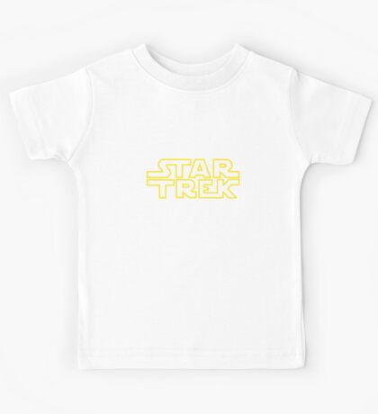 Star Trek - Star Wars parody Kids Tee