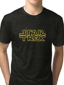 Star Trek - Star Wars parody Tri-blend T-Shirt
