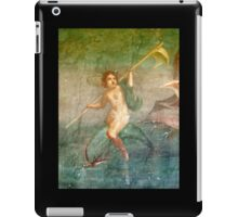 Boy Nymph, Naked, Riding Dolphin, Fresco, Pompeii iPad Case/Skin