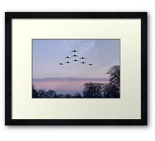 Red Arrows Winter Training  Framed Print