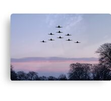 Red Arrows Winter Training  Canvas Print