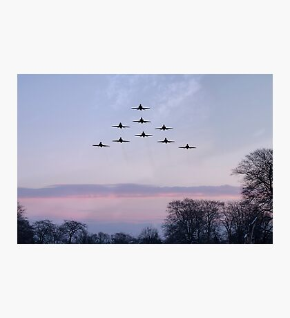 Red Arrows Winter Training  Photographic Print