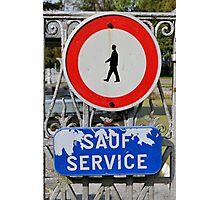 Sauf service Photographic Print