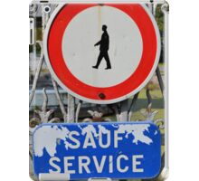 Sauf service iPad Case/Skin