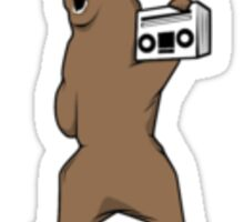 Bear and a Boom Box Sticker