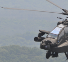 Apache Coming in for the Attack Sticker