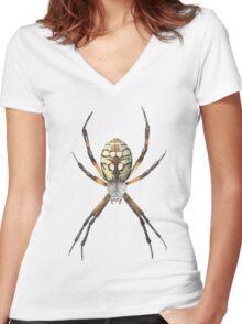 Garden Spider Women's Fitted V-Neck T-Shirt