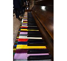 Piano keys, colorful Photographic Print