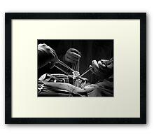 3 Hands & a Valve Framed Print