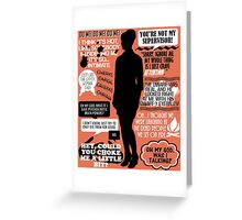 Archer - Cheryl Tunt Quotes Greeting Card