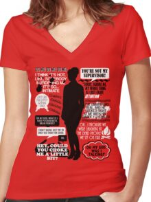Archer - Cheryl Tunt Quotes Women's Fitted V-Neck T-Shirt