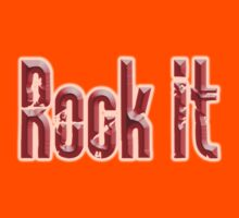 Rock it, Red, Rock & Roll, Rock Music, Rock band, Rockers Kids Clothes