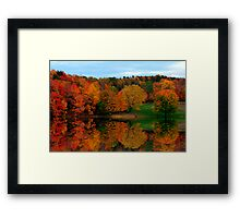 Brown's Pond with Fall Reflections Framed Print