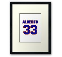 National baseball player Alberto Castillo jersey 33 Framed Print