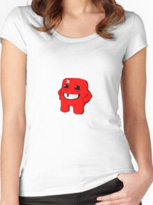 Super Meat Boy is Tough Women's Fitted Scoop T-Shirt