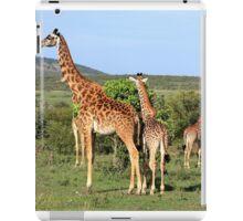 Giraffe Group On The Masai Mara iPad Case/Skin