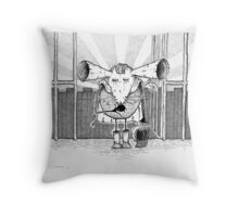 Baron Max Von Hooter Throw Pillow
