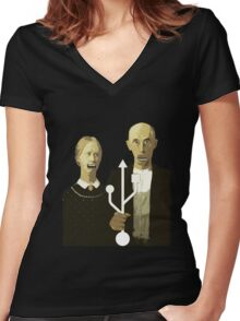 An American Socket Women's Fitted V-Neck T-Shirt