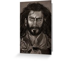 Thorin Oakenshield - DoS Greeting Card