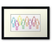 Transgender pride and diversity Framed Print