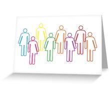 Transgender pride and diversity Greeting Card