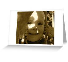Peek-a-Boo - Antique  Greeting Card