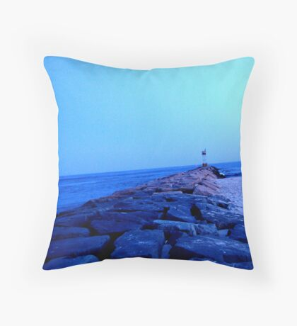 Inlet Rocks Throw Pillow