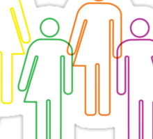 Transgender pride and diversity Sticker