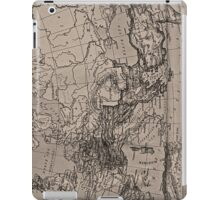 Old Map, Europe - Brown Black  iPad Case/Skin