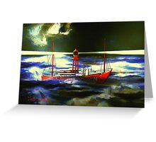 The South Goodwin Light Vessel - all products except duvet Greeting Card