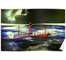 The South Goodwin Light Vessel - all products except duvet Poster