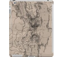 Old Map, Mediterranean Sea, Europe - Brown Black iPad Case/Skin