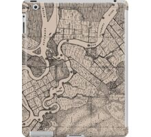 Old Map, Altamaha River, Georgia, USA - Brown  iPad Case/Skin