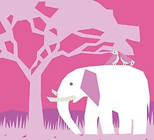 Pink Elephant by lollytree