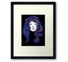 Peaceful Mind in Colours Framed Print