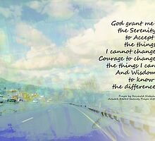 Serenity Prayer Clouds and Highway by serenitygifts