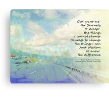 Serenity Prayer Clouds and Highway Canvas Print