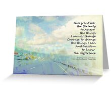 Serenity Prayer Clouds and Highway Greeting Card