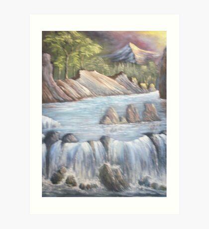 Waterfall cause Art Print