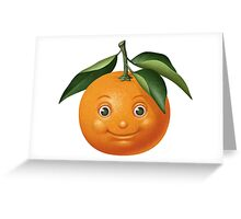 Smiling orange Greeting Card