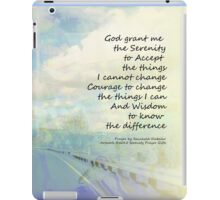 Serenity Prayer Clouds and Highway iPad Case/Skin