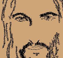 Jesus of Nazareth praying by JoAnnFineArt