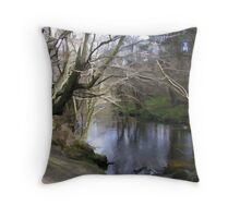 abstract of Forest waters Throw Pillow