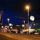 Blackpool night scape  by Chris Wilson