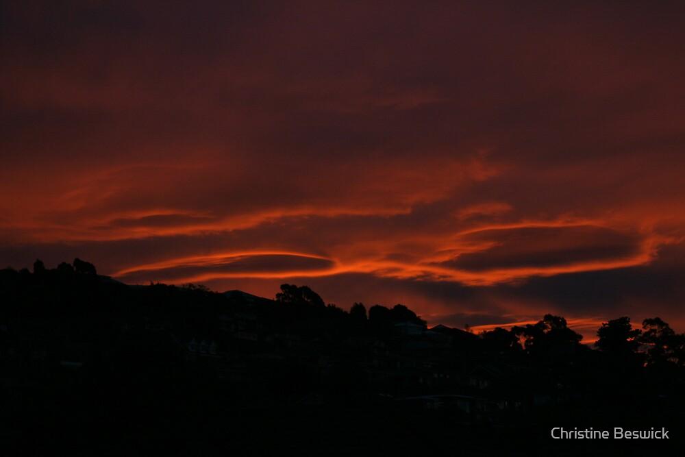 Suburban sunset by Christine Beswick