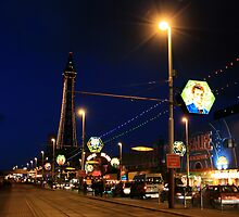 Blackpool by night by Chris Wilson