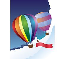 Air balloons in the sky 2 Photographic Print