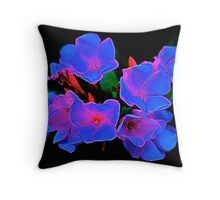 Midnight Bouquet Throw Pillow