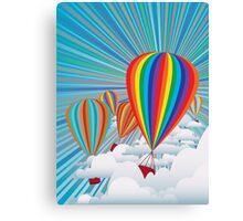Colorful hot air balloons Canvas Print